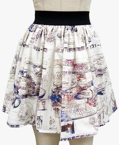 Star Trek Enterprise Draft Full Skirt by GoChaseRabbits on Etsy (this girl has the COOLEST nerd skirts!)