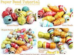 Adorable paper beads