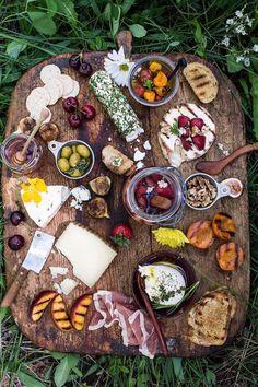 Cheese board in Garden