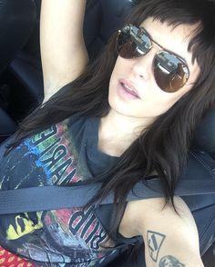 Sophia Amoruso / Band T-Shirt / Baby Bangs / Aviators