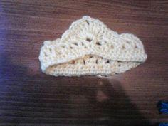 crocheted tiara photo prop
