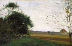 Landscape - Camille Pissarro, 1865 ©, Indianapolis Museum of Art, Indianapolis, Indiana  http://www.imamuseum.org/collections/artwork/landscape-pissarro-camille