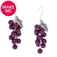 Berry Cluster Earrings   DIY   Fusion Beads