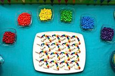 Maybe it's because this is my daughter's absolute dream party, but there is something about this Rainbows & Unicorns party by Jessica of Juicy Bits that had me thinking about…