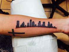Houston skyline tattoo