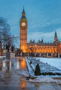 London - Clock Tower Reflection