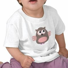 Funny pink owl baby t-shirt from http://www.zazzle.com/funny_pink_owl_t_shirts-235714586861882693