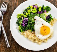 Sautéed Kale Salad with Edamame & Brown Rice