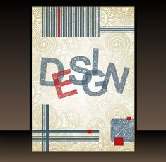 In a combination of vintage and modern styling, this classy book cover design has striped blocks with offset text on a glossy swirl background – vector eps. Creative Book Cover Designs, Best Book Cover Design, Book Cover Design Template, Magazine Cover Template, Best Book Covers, Art Design, Graphic Design Art, Book Design, Vector Design