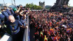 Barcelona hails the champions