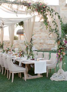 Alfresco Wedding Reception - Jose Villa Photography
