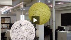 Tis a video showing me how to do the pendant light. I think I'm going to probably replace the globe light that I have w/ this and then place some smaller, non-light globes of varying colors and lengths around it! Trendy DIY Pendant Light | House & Home