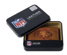 NFL San Francisco 49ers Embossed Trifold Leather Wallet
