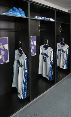 Customized laminate lockers for a private school boys basketball team by HAMILTON