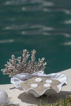 Complementos decorativos marítimos de muy mucho #muymucho #concha #coral #velas #playa #piscina #vacaciones #relax