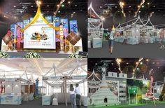 งานวันธรรมดาน่าเที่ยว สำนักงานท่องเที่ยวและกีฬาจังหวัดเชียงใหม่ ภายใต้แนวคิด ฮักเมืองเหนือ แอ่วล้านนา Exhibition Booth Design, Dee Dee, Set Design, Exhibitions, Pavilion, Writer, Stage, Inspire, Concept