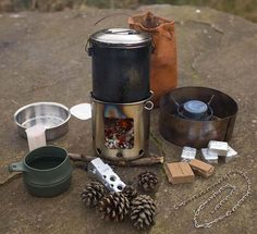 Wayland's Hobo Stove unpacked and in use.
