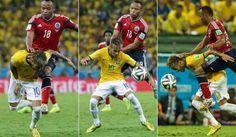 Caida De Neymar Soccer World Cup Soccer Field