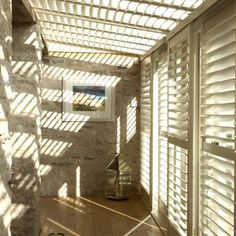 Wooden Shutters for Conservatories - Conservatory Shutters London Wooden Shutters Interior, Wooden Window Shutters, Wooden Windows, Shutter Decor, Shutter Designs, Best Interior Design Websites, Interior Design Institute, Glass Building, Roof Light