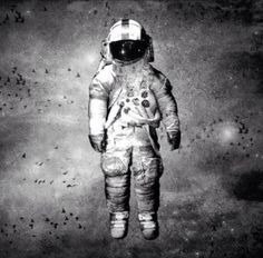 Deja Entendu Astronaut - black & white good outline for a tattoo