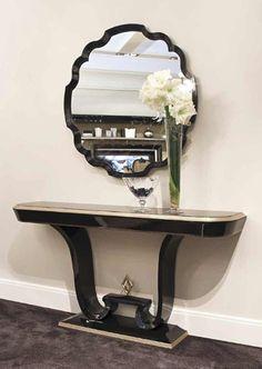 Console et miroir Art Déco