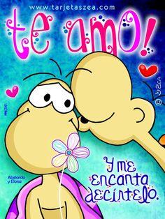 Para que no olvides que te amo-Abelardo hablándole al oido a Eloisa© ZEA www.tarjetaszea.com
