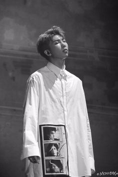 RM (Kim Namjoon) performing with closed eyes. Seokjin, Kim Namjoon, Hoseok, Jungkook Jimin, Bts Bangtan Boy, Taehyung, Mixtape, Billboard Music Awards, K Pop
