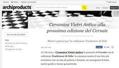 #Archiprodicts #ceramicavietriantico #Cersaie Tratto da http://www.archiproducts.com/it/notizie/41020/ceramica-vietri-antico-alla-prossima-edizione-del-cersaie.html