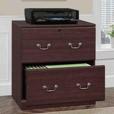 Espresso File Cabinet Wood