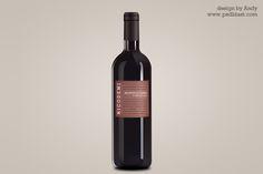 mock-up idea- Wine bottle psd