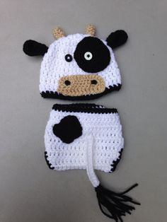 Newborn baby cow photo prop Absolutely adorable! Perfect for babys first photo…