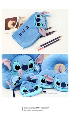 New Cute Soft Stitch Plush Pencil Case Pen Pouch Organizer Lilo and Stitch | eBay