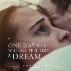 "Michael Fassbender and Alicia Vikander in ""The Light Between Oceans"" Love Film, Love Movie, I Movie, Literary Quotes, Movie Quotes, Michael Fassbender And Alicia Vikander, The Light Between Oceans, Hope Floats, Ocean Quotes"