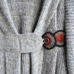 Pretty crocheted button detail from Utanum Icelandic Design