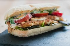 Vegetarische mozzarella burger   snelle keuken