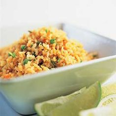 This is my secret mexican rice… Mexican Rice Recipe – America's Test Kitchen. This is my secret mexican rice recipe. It is better than any rice I've had at any Mexican restaurant. Mexican Rice Recipes, Mexican Dishes, Chicken Broth Substitute, Cilantro Lime Brown Rice, Crockpot, Slow Cooker, Fresh Guacamole, Spanish Rice, Americas Test Kitchen