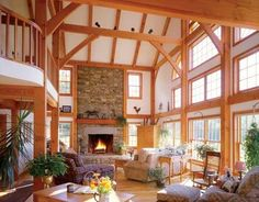 I have a crush on timber frame homes