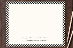 Paris + From Stripes to Chevrons Personalized Stationery for the paper lover