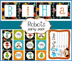 {This party pack contains digital files for 12 different Labels/Cupcake Toppers, Happy Birthday Banner, Party Invitation, and blank customizable sheets} DOWNLOAD HERE