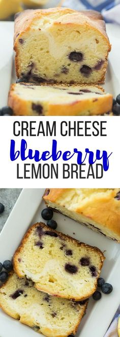 This Cream Cheese Blueberry Lemon Bread is sweet, tangy and filled with a decadent cheesecake layer! Let's call it breakfast or dessert ;) Includes how to recipe video | lemon recipe | berries | summer | baking | breakfast recipe | cheesecake