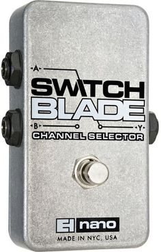 Electro-Harmonix Switchblade Passive Channel Selector Guitar Effects Pedal Guitar Effects Pedals, Guitar Pedals, Pedalboard, Cool Guitar, Channel, The Unit, Accessories, Bass, Compact