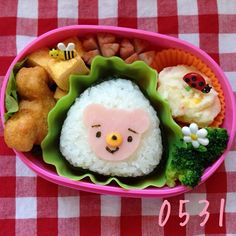 cute rice ball for lunch #bento