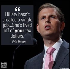Living large off Tax Payer Dollars!! Plus she hasn't created jobs! She's taken jobs AWAY!