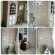 Foto: Stenen muur White wash van Action. Super leuk!. Geplaatst door jrom op Welke.nl