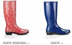 Shaye Bandana Rain Boot & Solid Color Shaye
