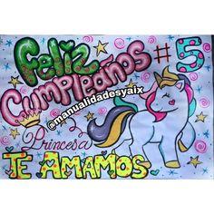 Pancarta de cumpleaños de pony unicornio personalizada Gifts For My Boyfriend, Unicorn Birthday, Graffiti, Hello Kitty, Happy Birthday, Disney, Romanticism, Hipster Stuff, Love Posters