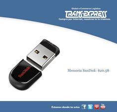 Memoria SanDisk de16 GB perfecta para que puedas almacenar todos tus archivos, fotos o lo que necesites. Costo del artículo puesto en El Salvador  $20.58 http://amzn.com/B005FYNSZA