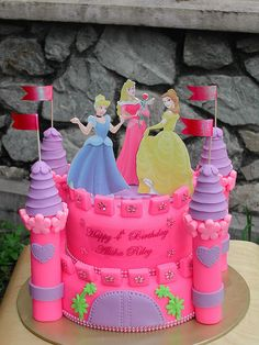 Disney Princesses Theme Cake