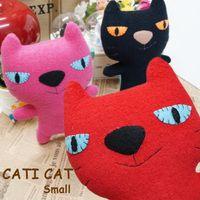 【かわいい ぬいぐるみ】 Idealist 猫のキャラクター キャティキャット small