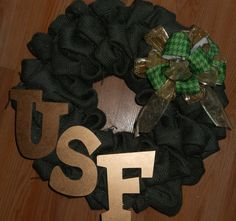 University of South Florida USF Bulls College burlap by kellyj0411, $28.00